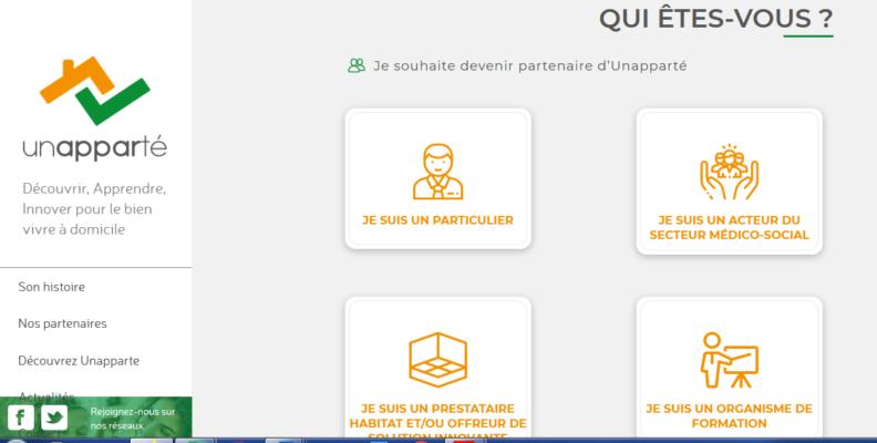 Découvrez le site Internet d'Unapparté !